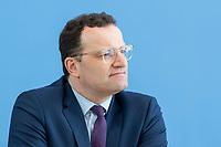 """09 APR 2020, BERLIN/GERMANY:<br /> Jens Spahn, CDU, Bundesgesundheitsminister, Pressekonferenz """"Unterrichtung der Bundesregierung zur Bekämpfung des Coronavirus"""", Bundespressekonferenz<br /> IMAGE: 20200409-01-020<br /> KEYWORDS: BPK"""