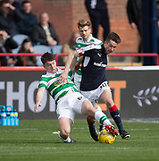 Dundee&rsquo;s Cammy Kerr goes past Celtic&rsquo;s Kieran Tierney - Dundee v Celtic in the Ladbrokes Scottish Premiership at Dens Park, Dundee.Photo: David Young<br /> <br />  - &copy; David Young - www.davidyoungphoto.co.uk - email: davidyoungphoto@gmail.com