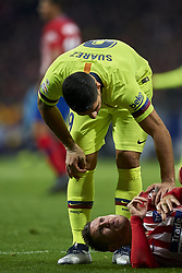 November 24, 2018 - Madrid, Madrid, Spain - Luis Suarez of Barcelona  and Lucas Hernandez of Atletico Madrid during the week 13 of La Liga match between Atletico Madrid and FC Barcelona at Wanda Metropolitano Stadium in Valencia, Spain on November 24, 2018. (Credit Image: © Jose Breton/NurPhoto via ZUMA Press)