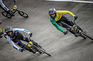 #6 and #309 during practice at the 2018 UCI BMX World Championships in Baku, Azerbaijan.