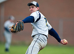 Fluvanna pitcher Ryan Foster (2) delivers against WMHS.  The Fluvana County High School baseball team faced William Monroe HS at WMHS in Stanardsville, VA on April 15, 2009.  (Special to the Daily Progress / Jason O. Watson)