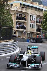 Nico Rosberg at the Monaco Formula One Grand Prix at the Circuit de Monaco, Sunday May 27, 2012 in Monte Carlo, Monaco. Photo By Imago/i-Images