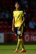 Dominic Smith of Colchester United during the Sky Bet League 1 match between Walsall and Colchester United at the Banks's Stadium, Walsall<br /> Picture by Richard Blaxall/Focus Images Ltd +44 7853 364624<br /> 06/09/2014