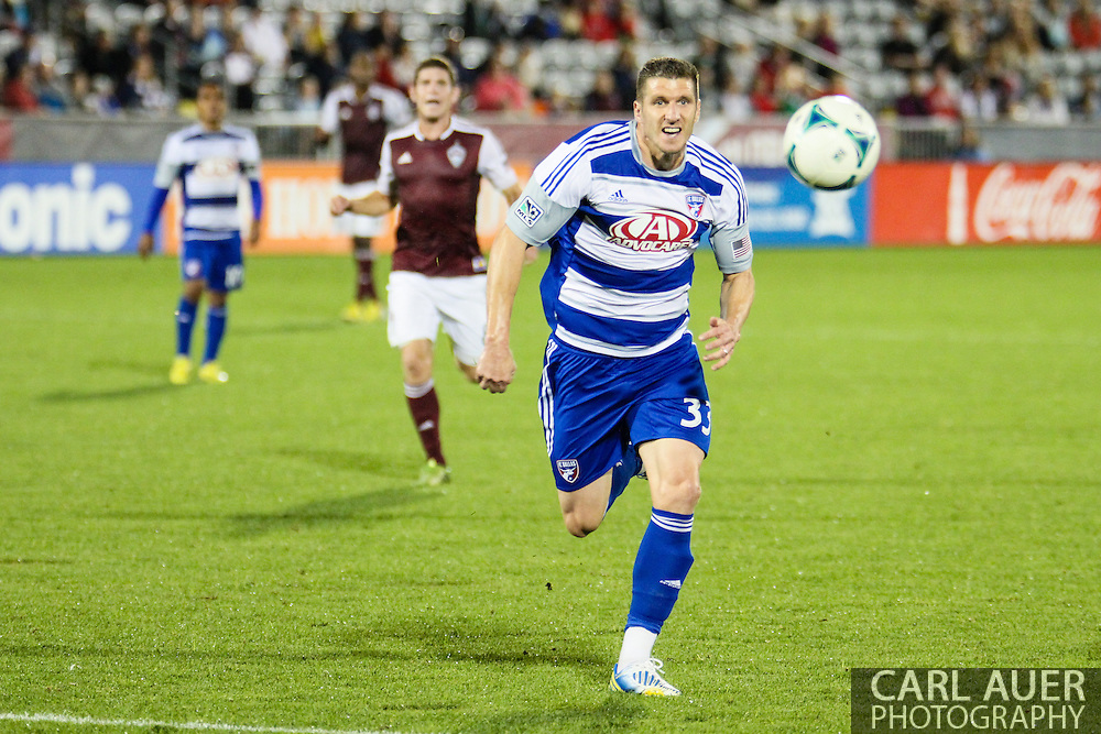 September 14th, 2013 -  FC Dallas forward Kenny Cooper (33) chases after the ball in the closing minutes of the MLS Soccer game between FC Dallas and the Colorado Rapids at Dick's Sporting Goods Park in Commerce City, CO