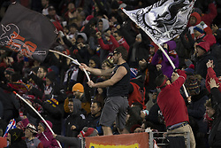 March 13, 2018 - Harrison, New Jersey, United States - Red Bulls fans support their team during Scotiabank Concacaf Champions League quarterfinal second leg game against Club Tijuana at Red Bull Arena Red Bulls won 3 - 1 (5 - 1 on aggregate) (Credit Image: © Lev Radin/Pacific Press via ZUMA Wire)