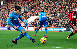 Hector Bellerin of Arsenal scores. - Mandatory by-line: Alex James/JMP - 14/01/2018 - FOOTBALL - Vitality Stadium - Bournemouth, England - Bournemouth v Arsenal - Premier League