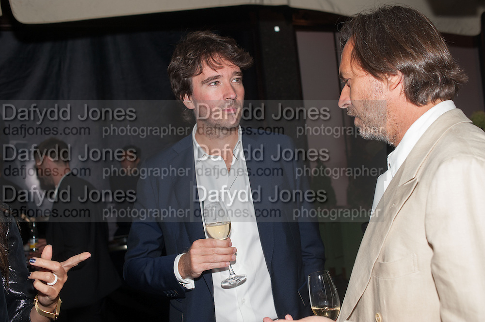 ANTOINE ARNAULT; MARC NEWSON, Dinner to celebrate the opening of the first Berluti lifestyle store hosted by Antoine Arnault and Marigay Mckee. Harrods. London. 5 September 2012.