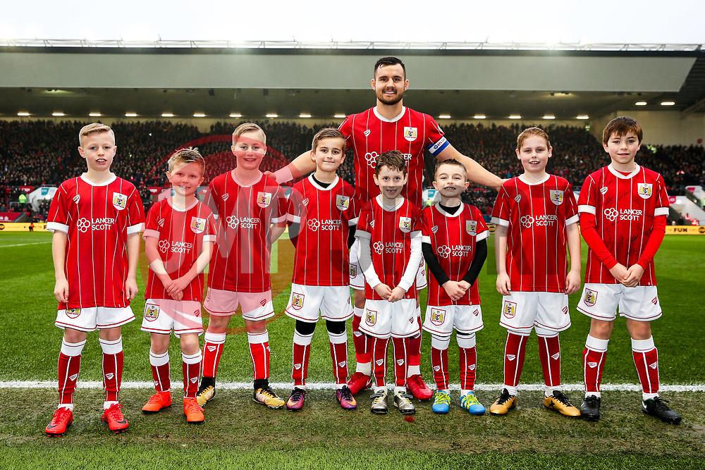 Mascots with Bailey Wright of Bristol City - Rogan/JMP - 27/01/2018 - Ashton Gate Stadium - Bristol, England - Bristol City v Queens Park Rangers - Sky Bet Championship.