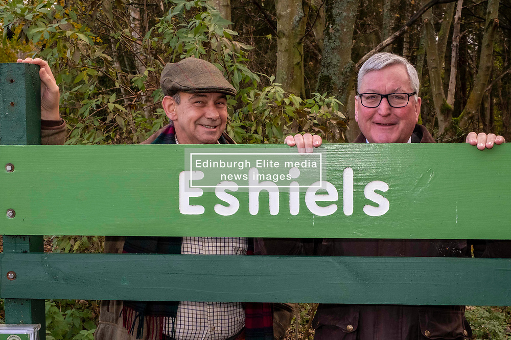 Pictured: Lawrie Hayworth, Chair, Peebles Community Trust and Fergus Ewing <br />