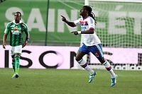 FOOTBALL - FRENCH CHAMPIONSHIP 2011/2012 - L1 - AS SAINT ETIENNE v OLYMPIQUE LYONNAIS - 17/03/2012 - PHOTO EDDY LEMAISTRE / DPPI - JOY OF BAFETIMBI GOMIS (OL) AFTER HIS GOAL