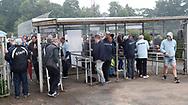 FODBOLD: Tilskuere på vej ind til kampen i ALKA Superligaen mellem FC Helsingør og OB den 24. juli 2017 på Helsingør Stadion. Foto: Claus Birch