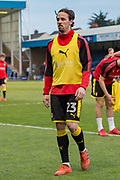 Rotherham United midfielder Ryan Williams (23) after warm up session  before the  EFL Sky Bet League 1 match between Gillingham and Rotherham United at the MEMS Priestfield Stadium, Gillingham, England on 17 April 2018. Picture by Martin Cole.