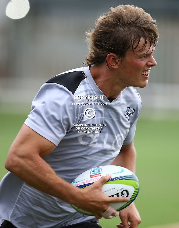 DURBAN, SOUTH AFRICA, 22,MARCH, 2016 - Christiaan de Bruin during The Cell C Sharks training session  at Growthpoint Kings Park in Durban, South Africa. (Photo by Steve Haag)<br /> <br /> images for social media must have consent from Steve Haag