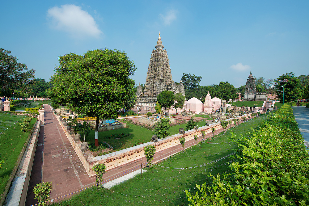 The Mahabodhi Temple, A UNESCO World Heritage Site located at Bodh Gaya, Bihar State Of India.  It is one of the most sacred and holy place in Buddhism, where Siddhartha Gautama, the Buddha, is said to have attained enlightenment.