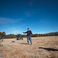 03/24/18     Daniel Zollinger<br /> <br /> Ken Dusenberry gives a lesson and demontration of 19th century artillery March 24, 2018 during the annual Civil War Encampment held by the Pecos National Historical Park. Dusenberry noted that firing a canon could be very accurate with skilled soldiers and though soldiers could fire up to 5 times a minute, they were usually instructed to fire at a much slower pace to ensure accuracy and effectiveness of the shots taken. The event is held to help facilitate education of the Civil war fighters in New Mexico as well as to give a glimpse into life at the time. This year, a plaque dedicated to Lt. Manuel Antonio Chavez was presented as a memorial to Chavez and others who fought alongside him during the Battle of Glorieta Pass (March 26-28, 1862).