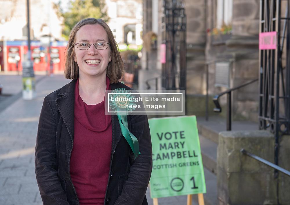 Mary Campbell was elected as a Scottish Green Party councillor for the Portobello-Craigmillar ward on Edinburgh Council.<br /> <br /> © Jon Davey/ EEm