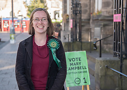 Mary Campbell was elected as a Scottish Green Party councillor for the Portobello-Craigmillar ward on Edinburgh Council.<br /> <br /> © Jon Davey/ EEm