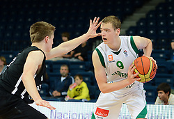 Sandi Grubelic of Slovenia during basketball match between National teams of Slovenia and Germany in Division A of U16 Men European Championship Lithuania 2012, on July 20, 2012 in Panevezys, Lithuania. (Photo by Robertas Dackus / Sportida.com)