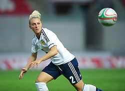 LLANELLI, WALES - Saturday, September 15, 2012: Scotland's Rhonda Jones in action against Wales during the UEFA Women's Euro 2013 Qualifying Group 4 match at Parc y Scarlets. (Pic by David Rawcliffe/Propaganda)