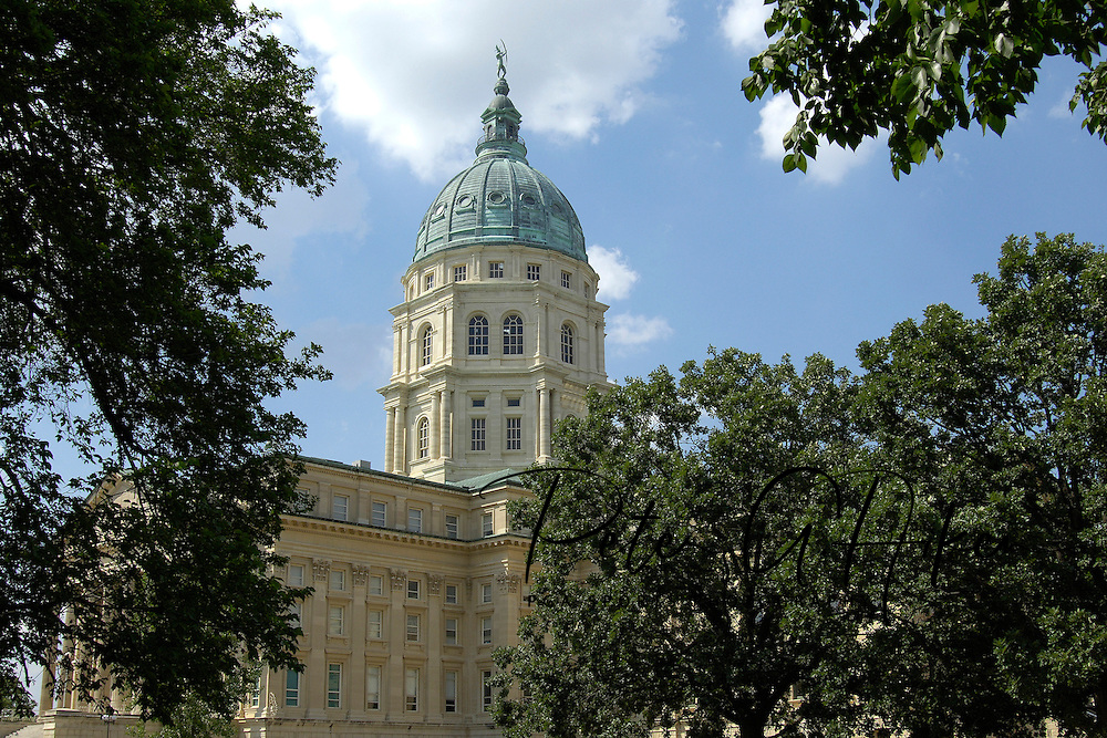 State Capitol Building in Topeka, Kansas.