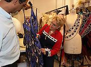 "Costume designer showing costume on tour.""Jubilee"" show girl.Las Vegas, Nevada.NOT MODEL RELEASED"