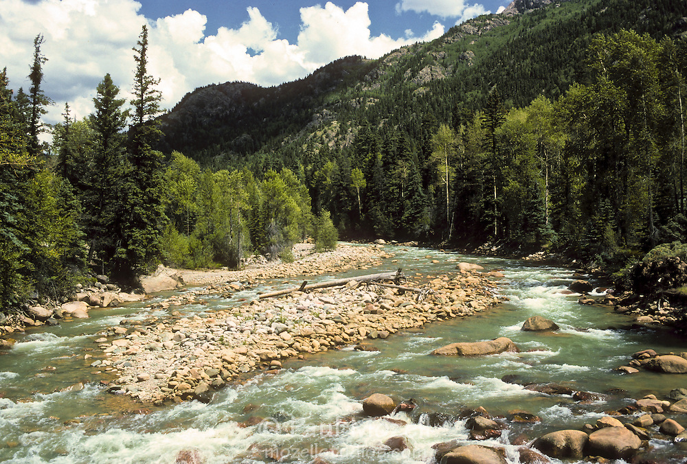 The Animas River in the San Juan Range, Colorado