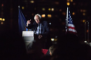 On the eve before the New York State primaries election, Presidential hopeful Senator Bernie Sanders (D-Vt) holds a last rally in the Hunters Point South Park in Queens.