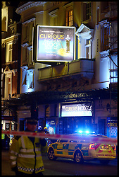 Balcony Collapses at the Apollo Theatre in the West End, London, United Kingdom. Thursday, 19th December 2013. Picture by Peter Kollanyi / i-Images<br />