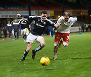 Dundee&rsquo;s Paul McGinn goes past Falkirk&rsquo;s Mark Kerr  - Dundee v Falkirk, William Hill Scottish Cup Fourth Round at Dens Park <br /> <br />  - &copy; David Young - www.davidyoungphoto.co.uk - email: davidyoungphoto@gmail.com