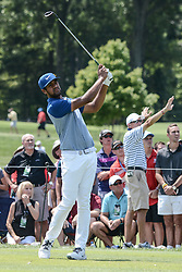August 10, 2018 - Town And Country, Missouri, U.S - TONY FINAU from Lehi Utah, USA tees off on hole number three during round two of the 100th PGA Championship on Friday, August 10, 2018, held at Bellerive Country Club in Town and Country, MO (Photo credit Richard Ulreich / ZUMA Press) (Credit Image: © Richard Ulreich via ZUMA Wire)
