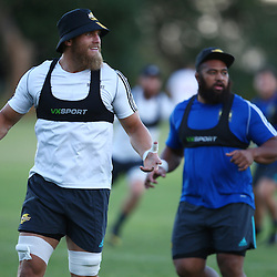 DURBAN, SOUTH AFRICA, 2, May 2016 - Brad Shields with Loni Uhila during the Hurricanes training session held at Northwood School Durban North , (Photographer Steve Haag) <br /> <br /> Images for social media must have consent from Steve Haag