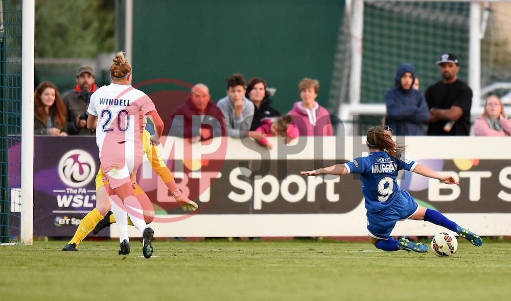 Christie Murray of Bristol Academy Women has a shot at the Birmingham goal - Mandatory by-line: Paul Knight/JMP - Mobile: 07966 386802 - 05/09/2015 -  FOOTBALL - Stoke Gifford Stadium - Bristol, England -  Bristol Academy Women v Birmingham City Ladies FC - FA Women's Super League