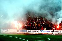 Fotball, 25. november 2010 , Kvalifisering Tippeligaen , Fredrikstad - Hønefoss<br /> Fredrikstad rykket opp<br /> illustrasjon , <br /> plankehaugen , publikum , røyk , fan , fans