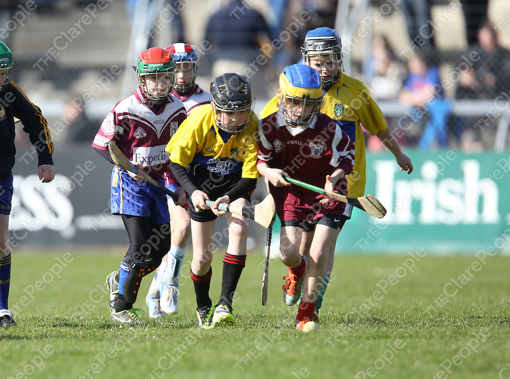 Primary Games being played at half time of  the Clare V Galway NHL Div 1A Game played in Cusack Park Ennis..<br /> Pictured Credit Brian Gavin Press 22