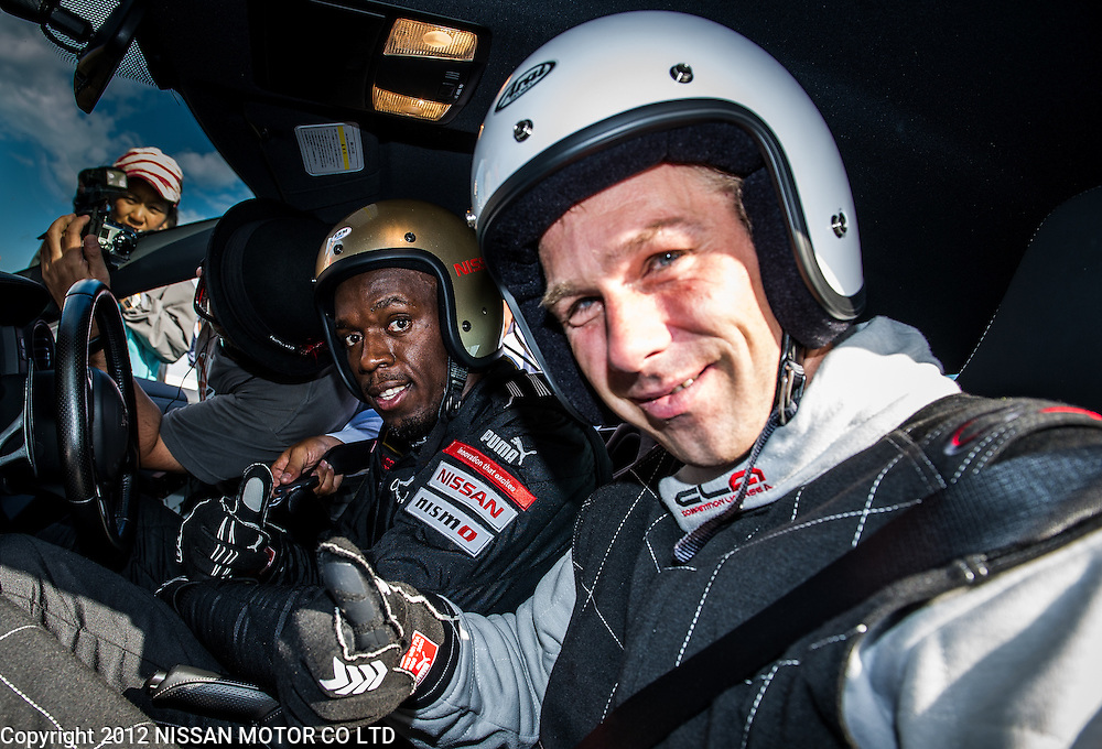Usain Bolt and Michael Krumm at Nissan Grandrive.