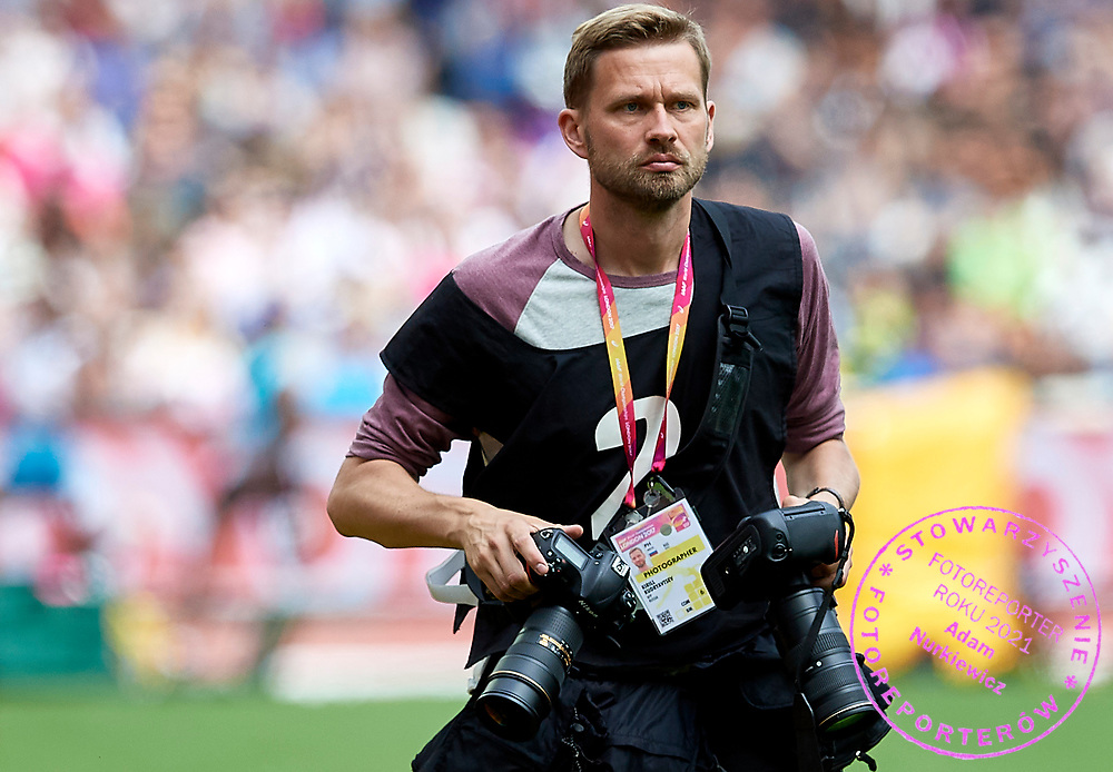 Great Britain, London - 2017 August 12: Kirill Kudryavtsev AFP photographer looks forward during IAAF World Championships London 2017 Day 9 at London Stadium on August 12, 2017 in London, Great Britain.<br /> <br /> Mandatory credit:<br /> Photo by &copy; Adam Nurkiewicz<br /> <br /> Adam Nurkiewicz declares that he has no rights to the image of people at the photographs of his authorship.<br /> <br /> Picture also available in RAW (NEF) or TIFF format on special request.<br /> <br /> Any editorial, commercial or promotional use requires written permission from the author of image.