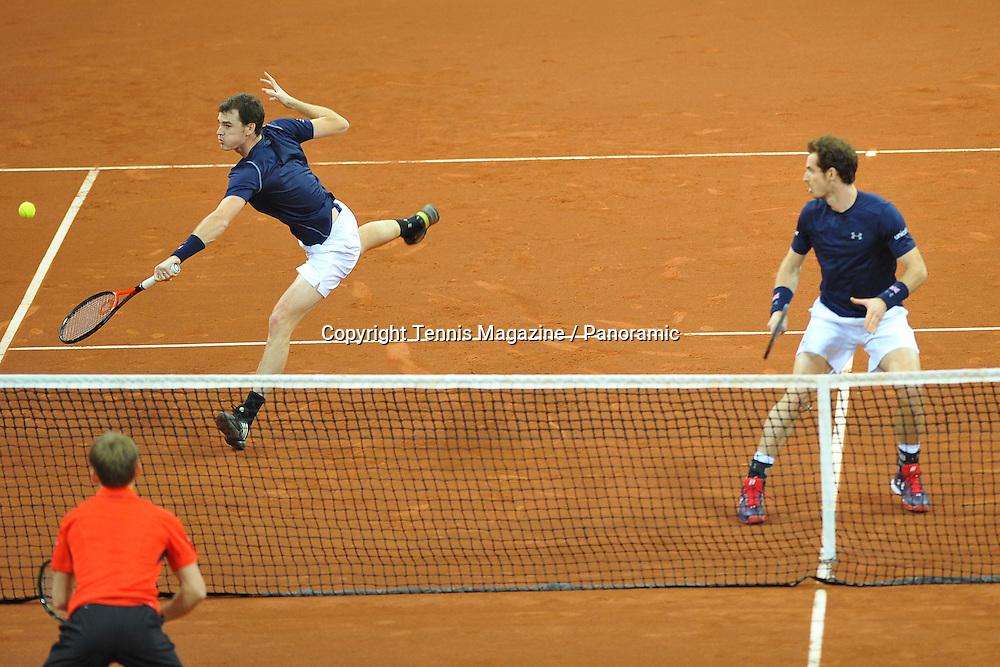double, David Goffin and Steve Darcis (Bel) vs Andy and Jamie Murray (GB)