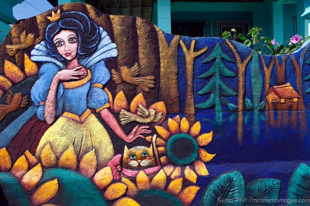 Central America, Cuba, Caibarien. Caibarien public art and studio of Mayelin Perez Noa.