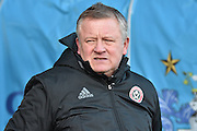 Sheffield United Manager, Chris Wilder   during the EFL Sky Bet League 1 match between Bury and Sheffield Utd at the JD Stadium, Bury, England on 2 January 2017. Photo by Mark Pollitt.