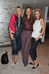Left to right, KIM HERSOV, HEATHER O'BRIEN-KERZNER  and DONNA AIR at a ladies breakfast hosed by At Last! held at Grace, 11c West Halkin Street, London on 29th January 2013.