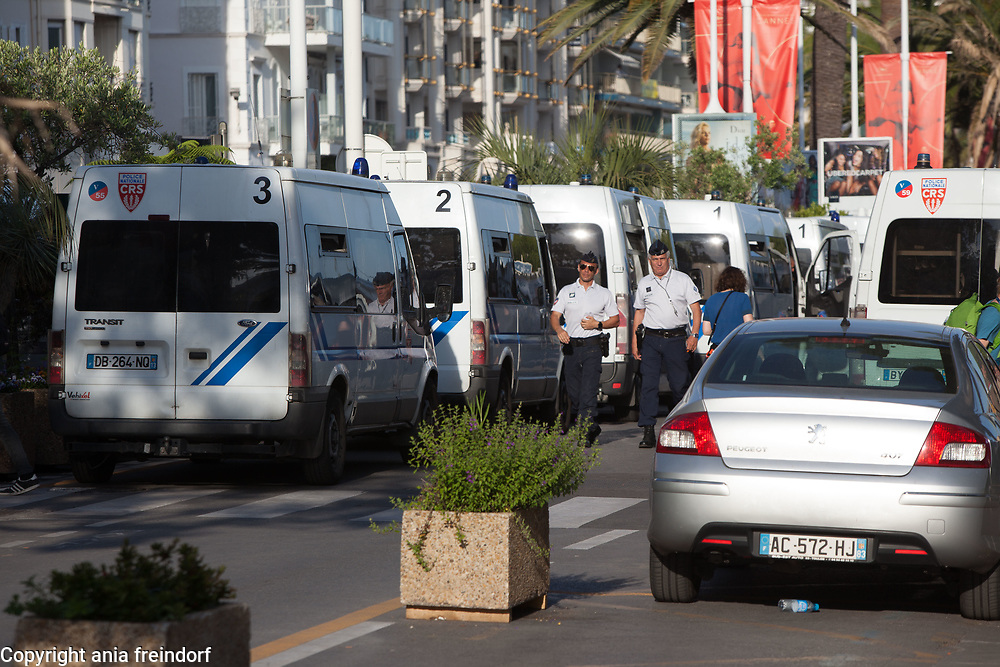 Cannes 70 Film Festival, France, 2017, closing, french police, security,