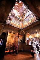 The inside of Palau Guell, an Antoni Gaudi designed building in the centre of Barcelona, Spain