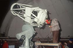 Using the telescope at the Observatory at the Punjabi University of Patiala; Punjab; India,