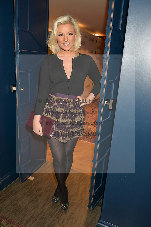 NATALIE COYLE at a party to celebrate the 1st anniversary of Hello! Fashion Monthly magazine held at Charlie, 15 Berkeley Street, London on 14th October 2015.