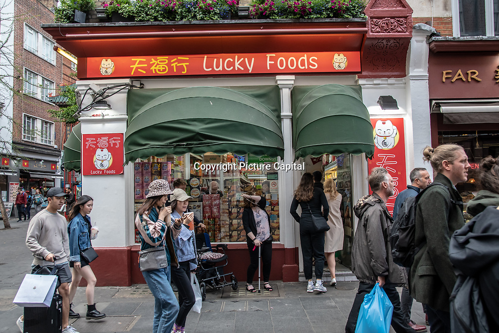 Lucky Foods in London Chinatown Sweet Tooth Cafe and Restaurant at Newport Court and Garret Street on 15 June 2019, UK.
