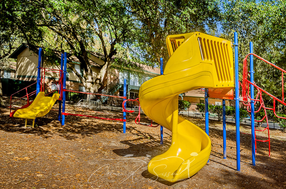 A playground is one of the amenities available to residents at Autumn Woods apartment homes, November 27, 2015, in Mobile, Alabama. The apartment complex, located on Foreman Road, is owned by Sealy Management Company. (Photo by Carmen K. Sisson/Cloudybright)