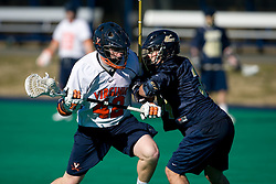 Virginia midfielder Max Pomper (42) in action against Navy.  The Virginia Cavaliers scrimmaged the Navy Midshipmen in lacrosse at the University Hall Turf Field  in Charlottesville, VA on February 2, 2008.