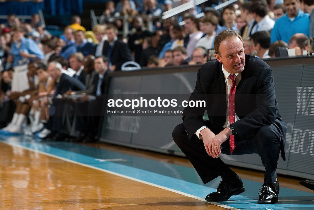 29 November 2006: Buckeye head coach Thad Matta during a 98-89 North Carolina Tar Heels victory over the Ohio State Buckeyes, in the Dean Smith Center in Chapel Hill, NC.<br />