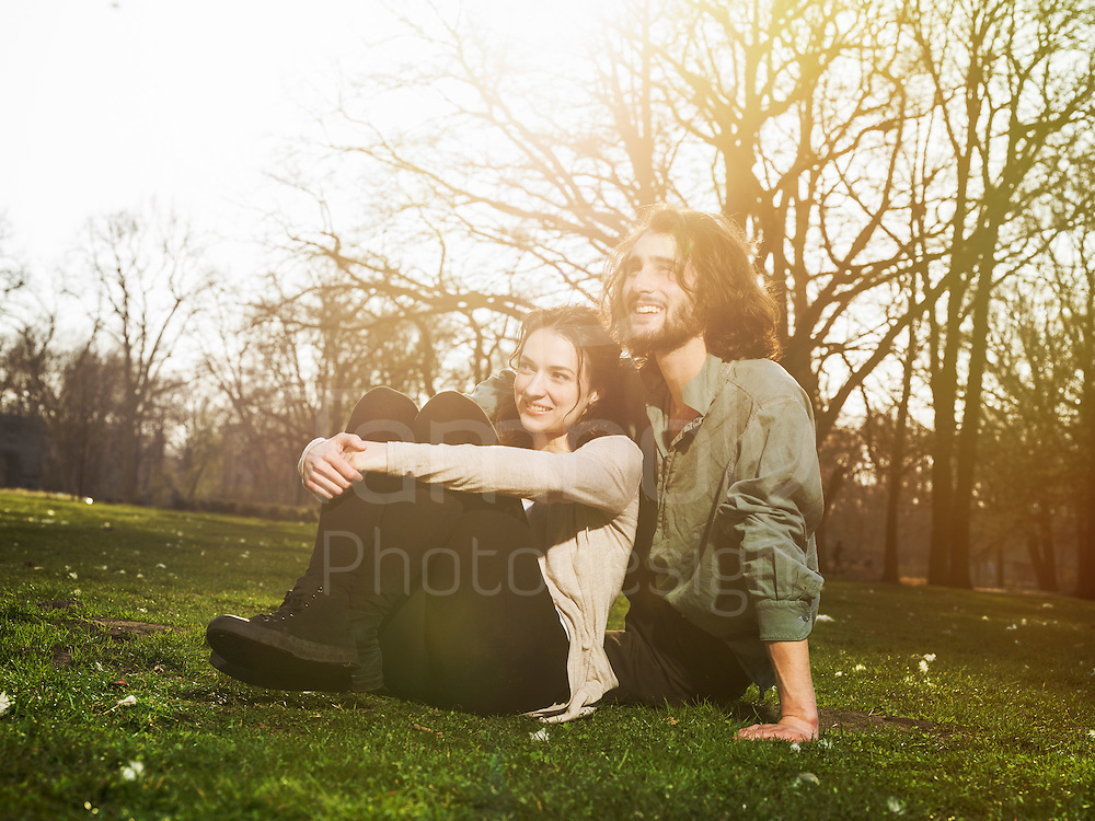 Couple enjoying time together in a park