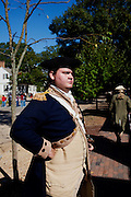 Williamsburg, VA - October 5, 2010: Robert Weathers poses for a portrait while in character on his job as an actor-interpretor in Colonial Williamsburg, Virginia on Tuesday, October 5, 2010.<br /> <br /> (Photo by Matt Eich/LUCEO for The Washington Post)